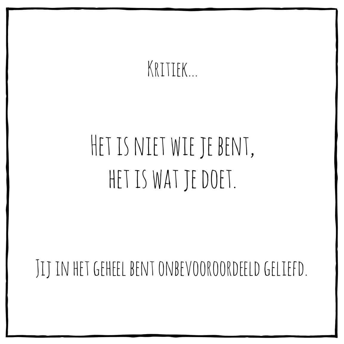 Kritiek…
